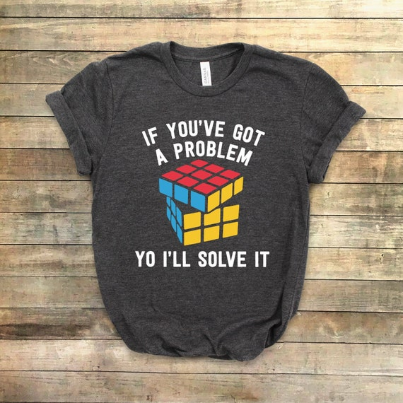 Rubik/'s Cube PROBLEM SOLVER Licensed Adult T-Shirt All Sizes