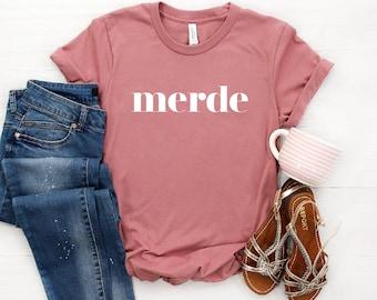 Ballet Shirt ∙ Merde Shirt ∙ Ballerina Gift ∙ Dancing Shirt ∙ Love Ballet ∙ Ballet Dancer Gift ∙ Break A Leg T-Shirt ∙ Softstyle Unisex Tee
