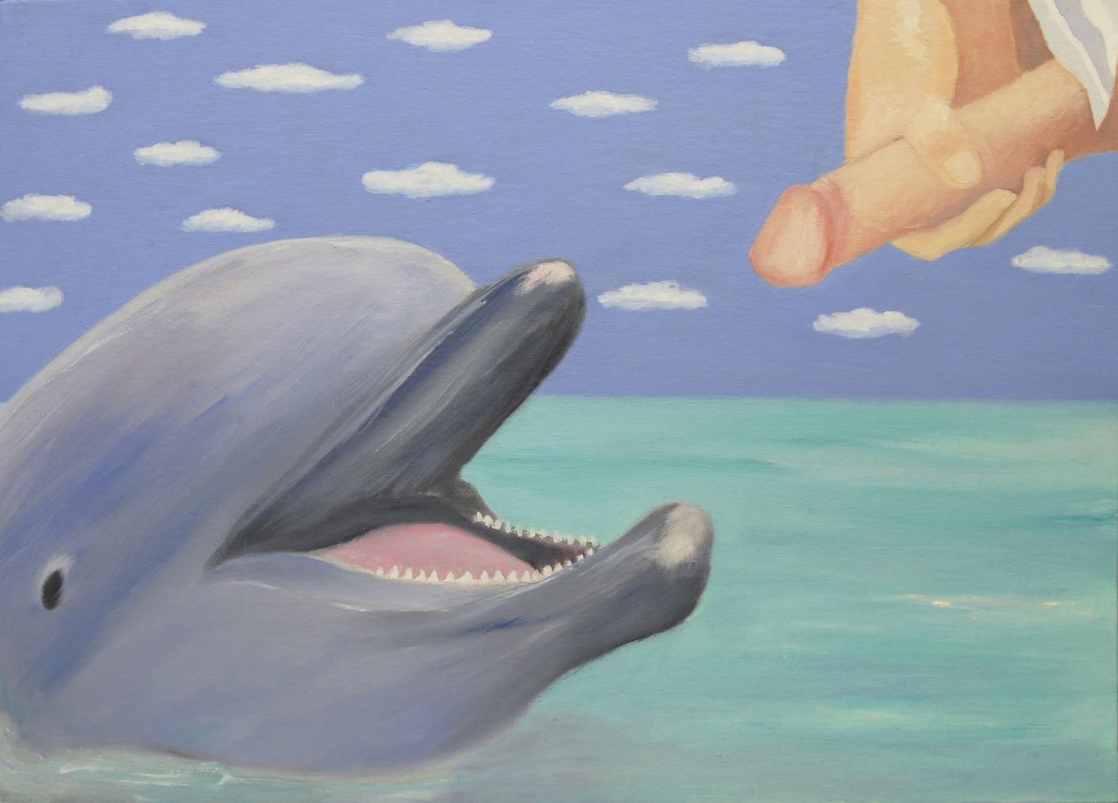 Dolphin Masturbating