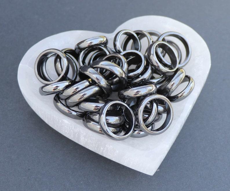 Black Hematite Ring Non-Magnetic Band