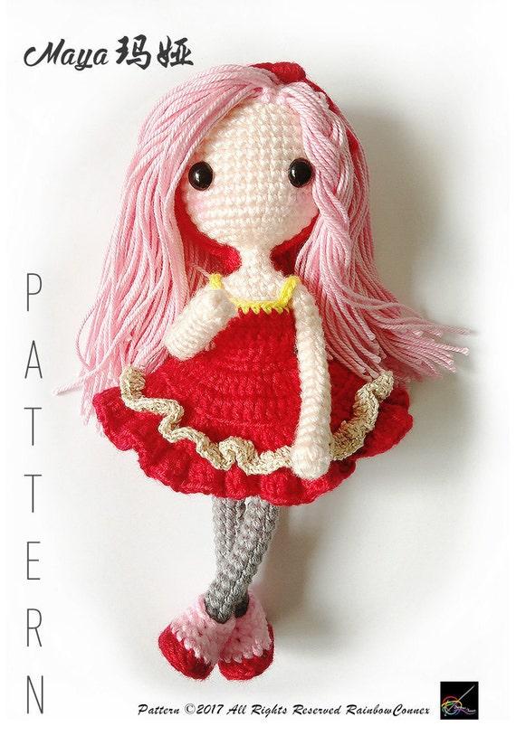 Amigurumi Doll Crochet Pattern Maya Etsy