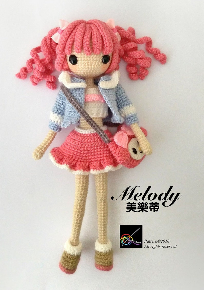 Crochet Doll Pattern My Melody 美樂蒂 Etsy