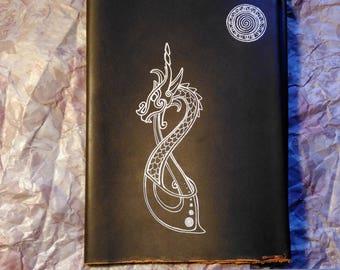 Funda de libro medieval. Celta. Viking. Dragón. Hechizos. Ritual