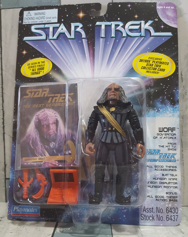 Star Trek Generations Lieutenant Commander Worf in 19th Century Outfit 4 inch