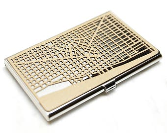 Business card case -Wood business card case -Metal card case -Detroit gift -Business card holder -Credit card case -Wood card holder -wallet