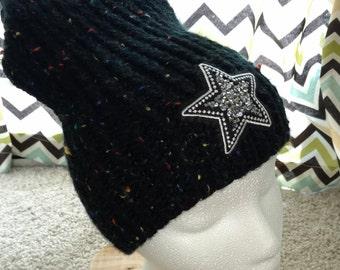 Winter Hat // Knit Hat // Slouchy Beanie // Beanie // Black Hat // Slouchy Hat // Women Hat // Chunky Knit
