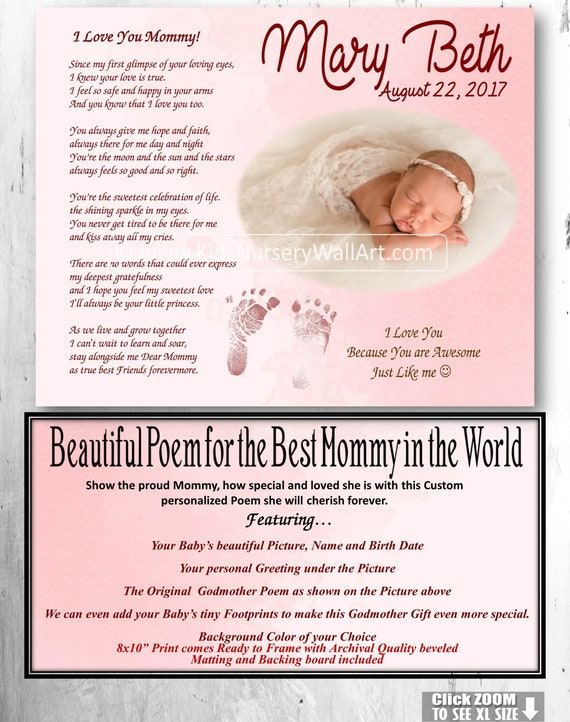 Mothers Day Gift New Mom Gift Mommy And Me New Mommy Poem Baby Boy Poem Baby Girl Gift From Baby Footprints Wall Art New Mommy Poem