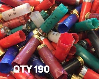 Empty Shotgun Shells Various Mixed Colors Once Fired Hulls Shotshells Casings Spent Ammo Cartridges 12 Gauge 190 Pieces