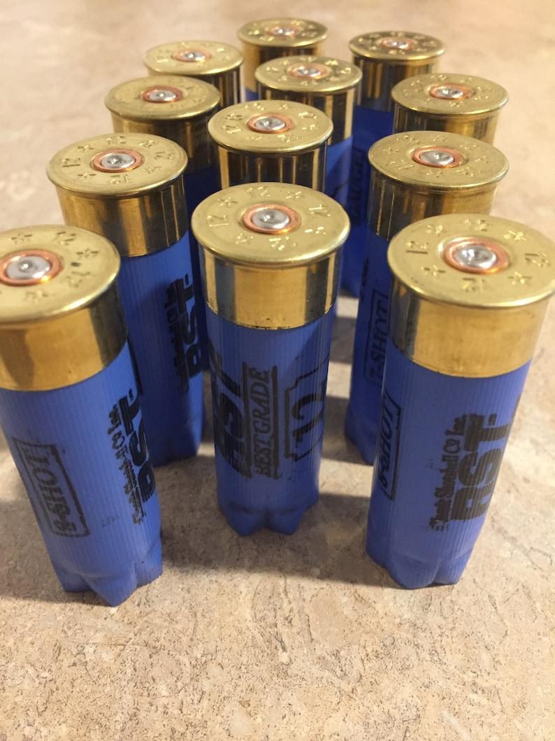 Blue Shotgun Shells 12 Gauge Hulls Empty Shotshells Once Fired Spent Light  Blue 12ga Shot Gun Casings Qty 12