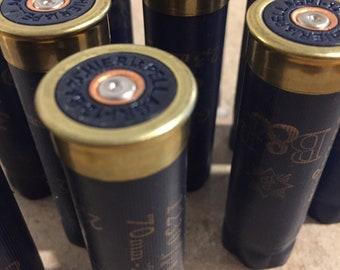 Navy Blue Empty Shotgun Shells 12 Gauge Hulls Shotshells Casings Unique Headstamps DIY Ammo Crafts 10 pcs