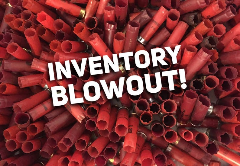 Huge Lot 410 Pcs Empty Red Shotgun Shells 12 Gauge Shot Gun Hulls  Cartridges Spent Shotshells Casings Mixed Colored DIY Ammo Craft