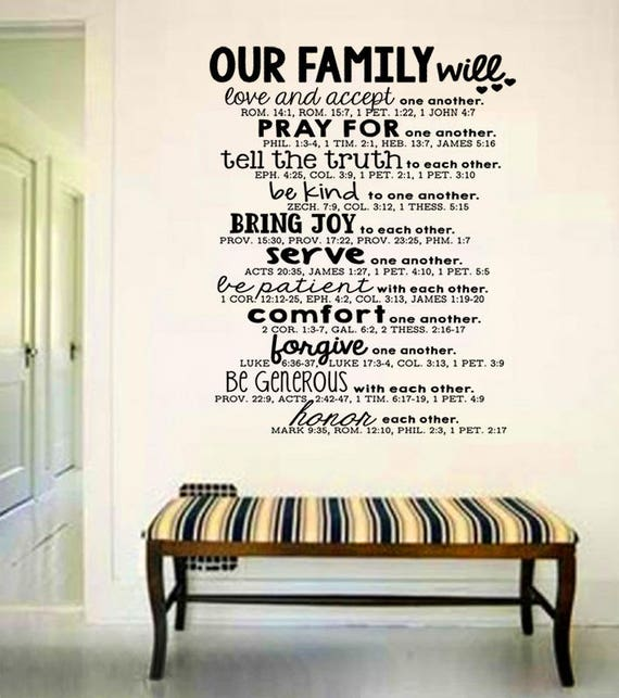 Family Quotes Scripture: Wall Art Family Bible Quote Decal Bible Verse Serve And