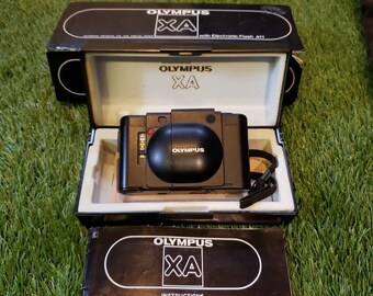 FILM TESTED Olympus XA with Original Protective Case, manual and box