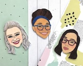 Custom Face Magnet, Best Friend Birthday Gift, Birthday Gift for Friend, Best Friend Gift, Friend Gift, Funny Birthday Gift, Custom Portrait