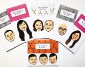 Custom Illustrated Face Magnet, Custom Gift for Mom, Funny Gift for Mom,  Personalized Gift for Mom, Gift for Mom, Gift for Her