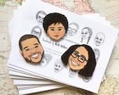 Custom Portrait Magnets, Custom Illustration, Illustrated Face Magnet, Personalized Gift, Custom Family Portrait, Gag Gift, Custom Portrait