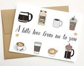 Valentine's Day Coffee Card, Latte Valentines Day Card, Latte Valentine, Galentine's Day Card, Galentine's Day Coffee Card, Coffee Valentine