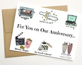 Personalized Anniversary Card, Anniversary Card for Boyfriend, Custom Anniversary Card, for Husband, for Her, for Him, for Girlfriend