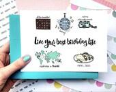 Custom Birthday Card, Best Friend Birthday Card, Funny Birthday Card, Personalized Birthday Card, Birthday Card for Friend, 30th Birthday