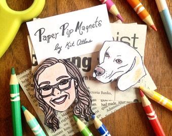 Custom Pet Magnet Dog Lover Gift Funny Birthday Mom Portrait