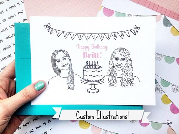 Custom Best Friend Birthday Card Funny Birthday Card 30th Etsy