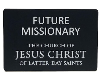 image relating to Missionary Name Tag Printable identify Missionary Etsy