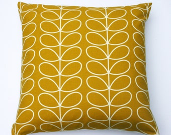 Scandinavian style linear stem cushion in dandelion/mustard