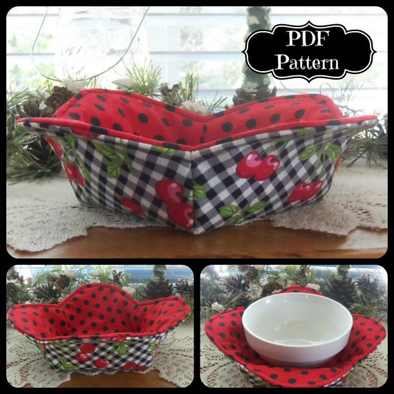 Kit to Sew Hot Bowl Cozy Holder Petal Style wPattern *In the Woods*