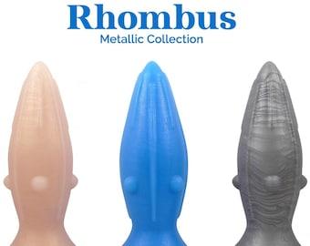 Rhombus Silicone Dildo - Metallic Collection