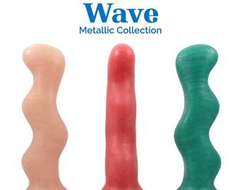 Wave Silicone Dildo - Metallic Collection