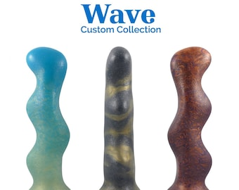 Custom Wave Silicone Dildo - Choose your firmness, colors and pattern