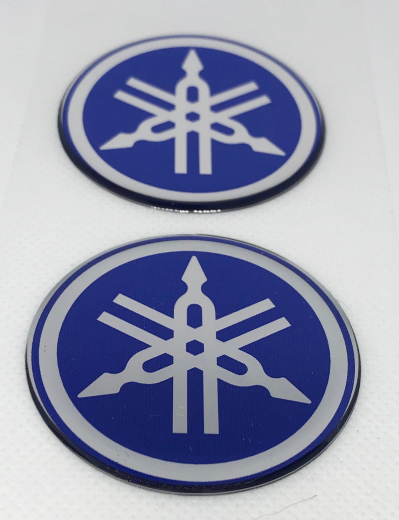 2pcs x yamaha sticker ø 50mm scooter logo domed 3d decals etsy