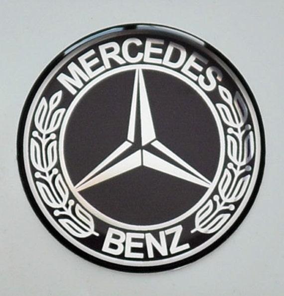 2stk X Mercedes Benz Aufkleber Ca 56mm Vintage Logo Domed Etsy