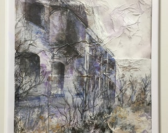 Watercolour Painting, Abandoned Building