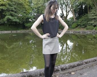 Sale !  90's Mini Skirt/ Retro Check Skirt/ size 10