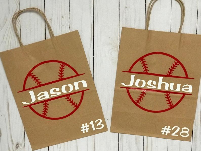 image 0 ... & Baseball Gift Bag Baseball Party Baseball Team Gift | Etsy