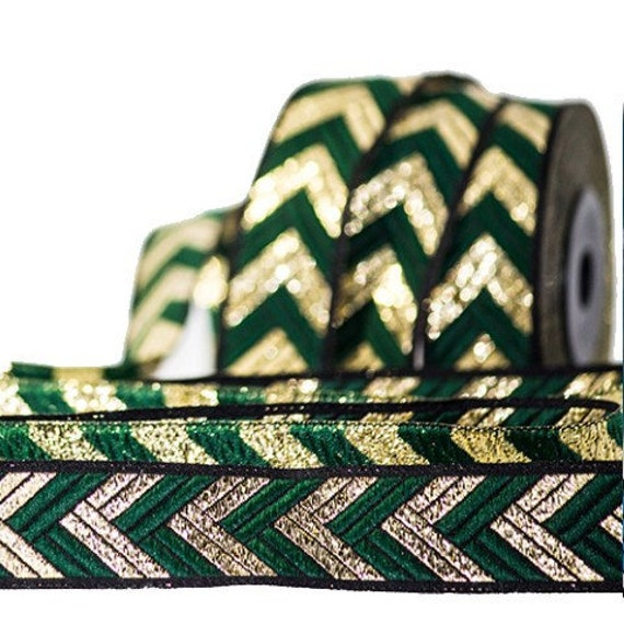10m Galon embroidered jacquard width 20mm  35mm