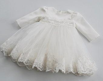 e1f2a4a1f62d3 EMMA long sleeve christening dress
