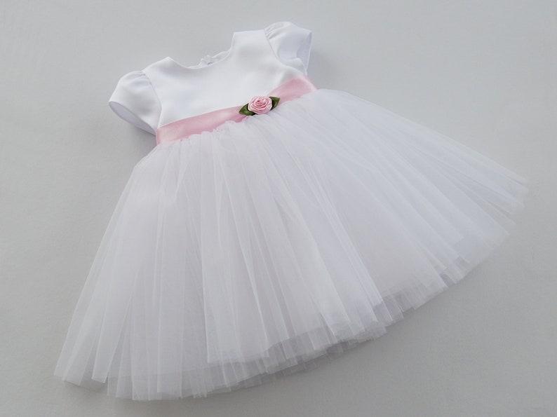 christening gown ROSE tulle christening dress christening outfit christening dress baptism outfit christening gown girl baptism dress