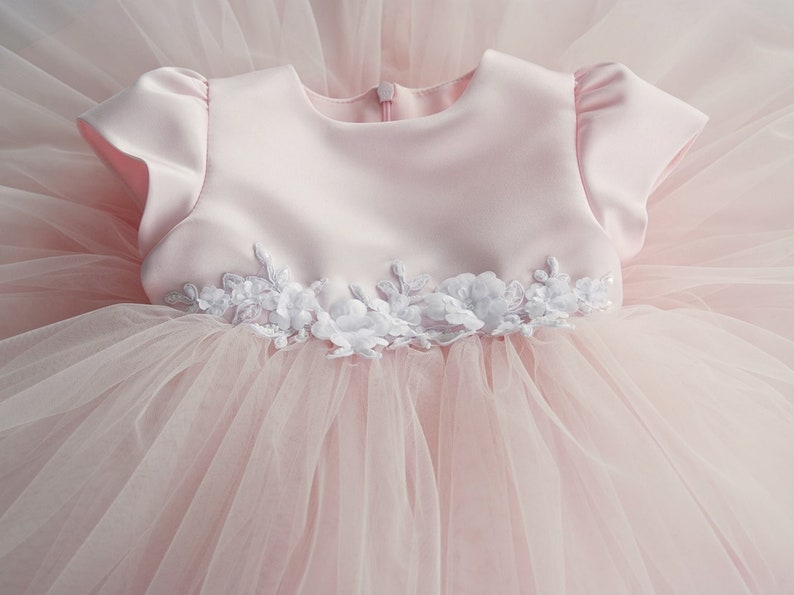 f7ba0a98d GRACE flower girl tulle dress for a baby girl first birthday | Etsy