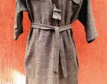 woolen and warm attached to the body warm above the knee thick but very gentle dress 58-60 kg lady stylish casually elegant dress