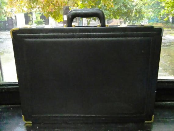 suitcase, black leather case, suitcase with code,
