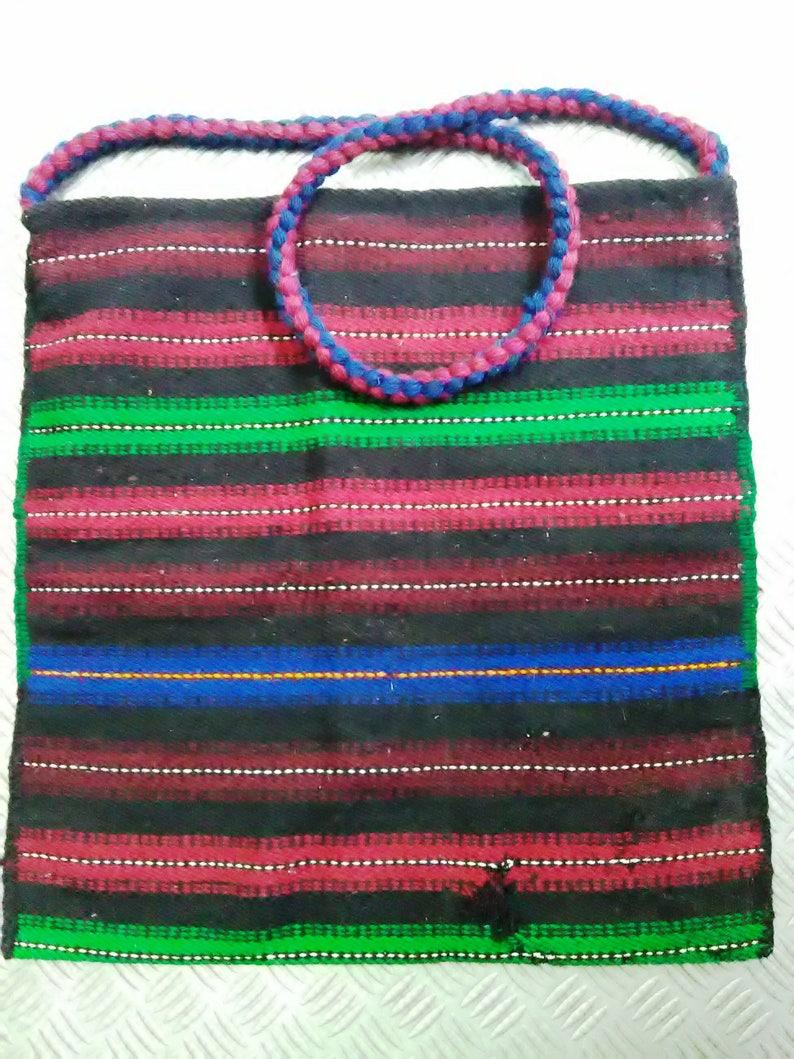 huge woven bag long handle bag decorative bag, bag from Bulgaria hand-woven bag genuine wool bag luggage bag wool bag