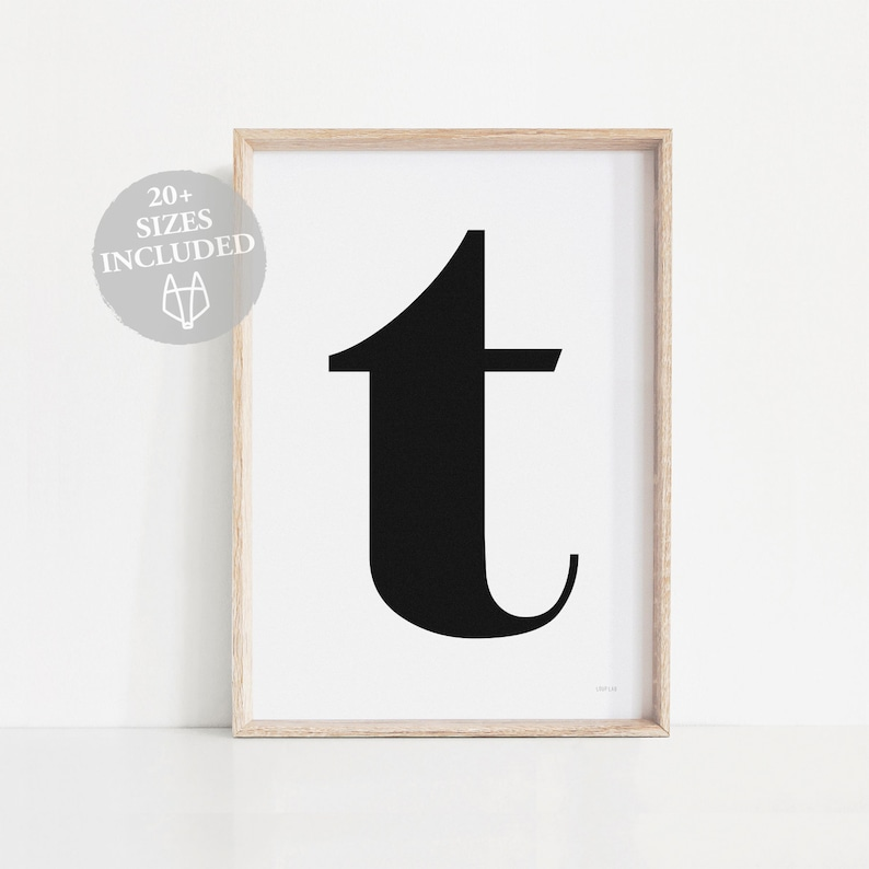 image regarding Letter T Printable identified as Letter T wall artwork printable, Electronic letter T to start with print, Typographic artwork letter T print, Impressive wall artwork, Scandinavian T print
