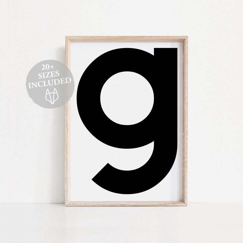 graphic regarding Printable Poster Letters identified as G letter Scandinavian printable poster, Letter G poster print, G letter wall artwork Printable letters, Black and white typography First print