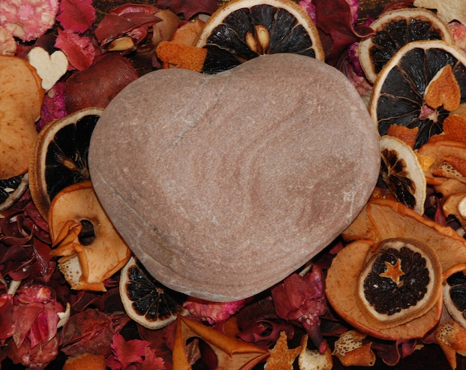 f24f1248c7 Big Brown Sea Heart Stone 11 cm - Natural Unique Large Heart Shaped Beach  Pebble Love