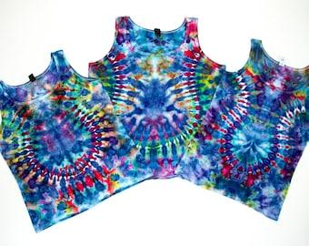 Ocean Necklace Ice Dye Tank Tops