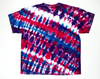 0d8013b169d SALE! Red and Purple Tie Dye Shirt - Size XL