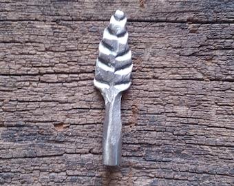 Tobacco pipe tamper. Hand forged leaf