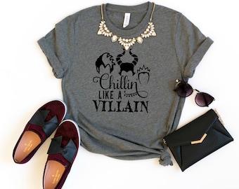 52fb488e62c79 Chillin Like A Villain Disney Graphic Tee
